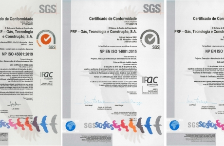 Certeficates of Registration ISO 9001 / ISO 14001 / ISO45001